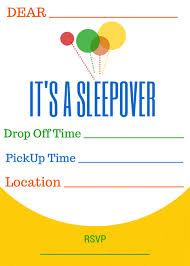 Sleepover Fun With M Ms Free Printable Slumber Party