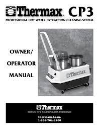 thermax cp3 user s manual