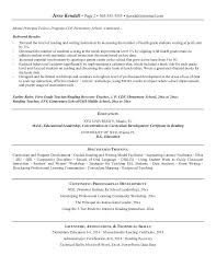 school principal resume sample elementary school principal resume best  resume collection middle school principal resume sample