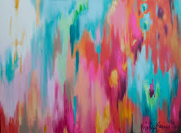 large multi color abstract kristygammill