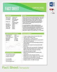 Fact Sheet Template Microsoft Word December 2018 Jiway