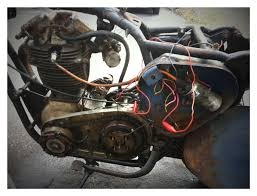b33 alternator model wiring help britbike forum i know positive goes to ground but the negative disappears on the wiring diagram when it reaches the headlight and tail light somewhere it must connect to