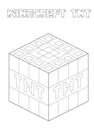 Minecraft Tnt Kleurplaat Gratis Kleurplaten Printen