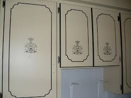 Kitchen Stencil Kitchen Cabinets Painted W Stencil Here Is A Closer Image Flickr