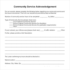 community service verification form for court court ordered community service letter sample hours form template