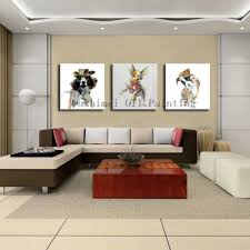 Living Room Craft Hand Painted Knife Abstract Animal Deer Pictures Canvas Art Modern