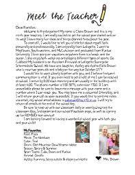 Sample Welcome Letter From Preschool Teacher
