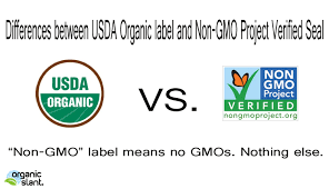 differences between usda organic label and non gmo project differences between usda organic label and non gmo project verified seal