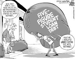 a political cartoon that shows how debt from student loans is one a political cartoon that shows how debt from student loans is one of the major problems that college grads face ajp austin peck students