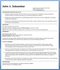 Entry Level Research Scientist Resume Sample Research