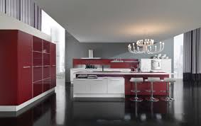 Red Kitchen Furniture Creamy Contemporary Kitchen Furniture With Floating Hazy Glow