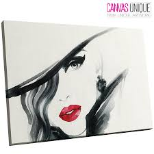 image is loading e185 black red lips minimalist paint face canvas  on wall art red lips with e185 black red lips minimalist paint face canvas wall art framed