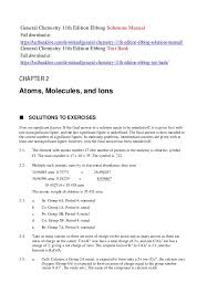 General chemistry 11th edition ebbing solutions manual