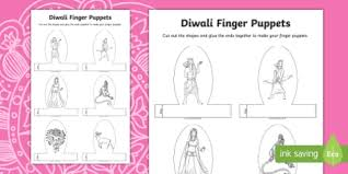 Diwali Story Character Finger Puppets Activity Diwali Story