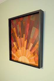 sunrise wood wall art stains and grains