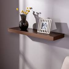southern enterprises chicago chocolate 36 inch floating shelf