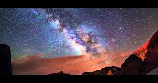 Better than a Fiber Optic Star Ceiling... a painted night sky ...