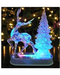reindeer and christmas tree color changing acrylic table top christmas  decoration - led christmas decorations -