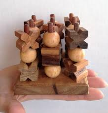 Wooden Strategy Games 100D Tic Tac Toe Small Strategy Wooden Game Solve It Think 55