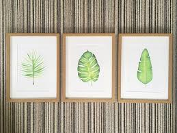 the tropical leaf wall art set 3 x a4 on leaf wall art set with the tropical leaf wall art set 3 x a4 sass fleur
