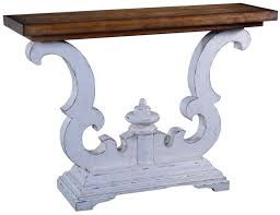 Distressed white console table Rustic Console Table Cambridge Solid Wood Scroll Design Distressed Old World White Overstock Solid Wood Scroll Console Table Distressed White Console Table
