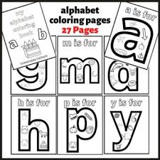 The theme of each letter is from our popular alphabet flash cards. Lowercase Letters Alphabet Coloring Pages Printable Tpt