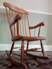 wooden rocking chair. vintage full size wooden rocking chair, unpainted upcycle project shabby chic chair i