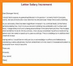 Increment Letter Best Salary Increase Letter From Employer Samancinetonicco