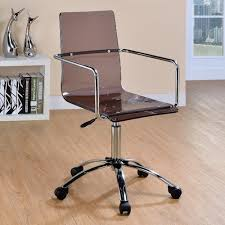 Acrylic office chairs Modern Styling Coaster Office Chairs Acrylic Office Chair With Steel Base Knight Furniture Coaster Office Chairs Acrylic Office Chair With Steel Base Rifes