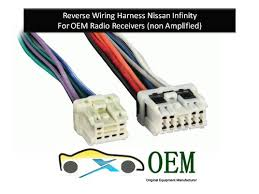 amazon com nissan infinity radio reverse wiring harness 1995 to nissan infinity radio reverse wiring harness 1995 to 2007 oem radio 71 7550