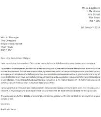 Cover Letter Sample For Hr Position Magnificent Hr Generalist Cover Letter Examples Bino48terrainsco