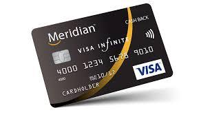 Visa Black Card Design Credit Cards Meridian Personal Member Visa Options