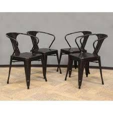 black metal dining chairs. Brilliant Metal Black Metal Dining Chair Set Of 4 To Chairs H