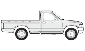 Pickup Truck Sketch at PaintingValley.com | Explore collection of ...