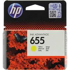Оригинальный <b>картридж HP CZ112AE</b> (<b>№655</b>) (жёлтый) Желтый ...