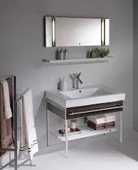 witching small undermount bathroom sink using metal vanity base