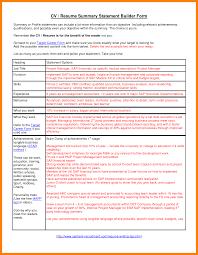 Sample Resume Summary Statement 60 sample resume summary statement sap appeal 34