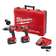 milwaukee tools m18. milwaukee m18 fuel 18-volt lithium-ion cordless brushless hammer drill/impact driver combo kit with free circ saw-2897-22-2731-20 - the home depot tools i