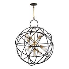 artcraft lighting ac10957 orbit 7 light orb pendant