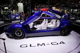 2016 paris motor show da sergilenen otomobillerden biri de glm g4 idi green lord motors un ürettiği ön ve arka kapıları yukarı doğru açılan bu sıradışı