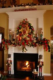 Nutcracker Mantel for a decorative Christmas fireplace and mantel. But  where is the chimney sweep nutcracker? I would need at least 2 or more  chimney sweeps ...