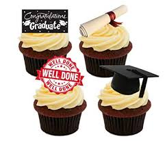Graduation Well Done Congratulations Edible Cake Decorations