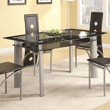 Metal Top Dining Tables Coaster Furniture 121051 Fontana Dining Table In Silver Metal