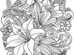 Floral Coloring Pages Skylark And Flowers Coloring Page Free