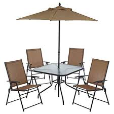 Folding patio chairs High Back Image Unavailable Amazoncom Amazoncom Piece Outdoor Folding Patio Set With Table