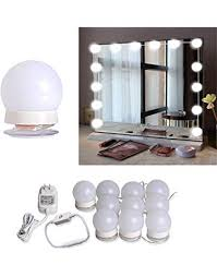 Image Diy Hollywood Style Led Vanity Mirror Lights Kit With 10 Dimmable Light Bulbs For Makeup Dressing Table Amazoncom Vanity Lighting Fixtures Amazoncom Kitchen Bath Fixtures