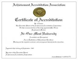 Certificate Of Accreditation Earn Your Associates