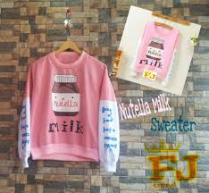 Jual Sweater Tokopedia Story Milk Fashion - Id Bandung Kota Nutela