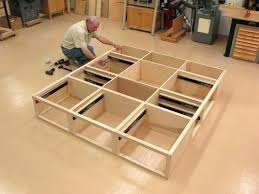 king storage bed plans. Storage Bed Plans King Platform Custom Ash Size With 9 Drawers . P