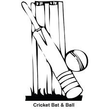 Cricket Bat Coloring Picture Pictures Color Pages Excellent Bats